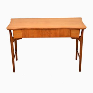 Walnut & Satinwood Console Table or Desk, 1960s