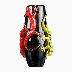 Große Vase mit 4 Geckos von VG Design & Laboratory Department