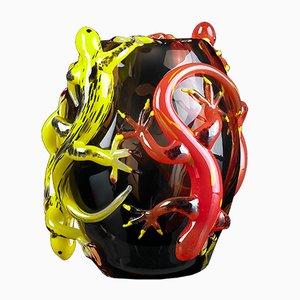 Kleine Vase mit 4 Geckos von VG Design & Laboratory Department