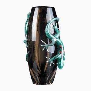 Großer Vaso mit 2 Geckos von VG Design & Laboratory Department