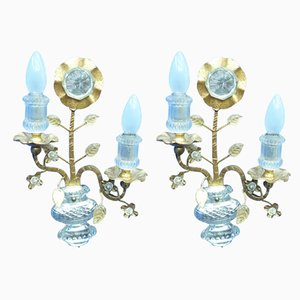Italian Brass Sconces, 1960s, Set of 2