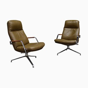 Model FK-86 Lounge Chairs by Preben Fabricius and Jørgen Kastholm for Walter Knoll / Wilhelm Knoll, 1968, Set of 2