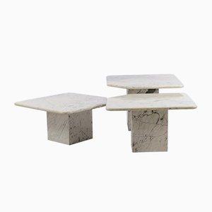 Tavolini ad incastro vintage in marmo, Italia