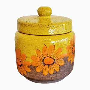 Lidded Floral Jar by Aldo Londi for Bitossi, 1960s