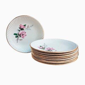 Plates Set from Gien, 1950s, Set of 12
