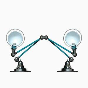 Lampes de Bureau Mid-Century par Jean-Louis Domecq pour Jieldé, Set de 2