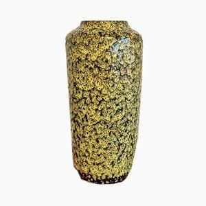 Vase Fat Lava Jaune et Noir N°517/45 par Heinz Siery pour Scheurich, années 60