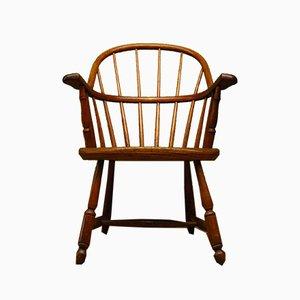 Antiker amerikanischer Armlehnstuhl aus Ulmenholz
