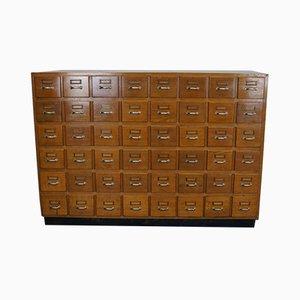 Mid-Century German Oak Filing Cabinet
