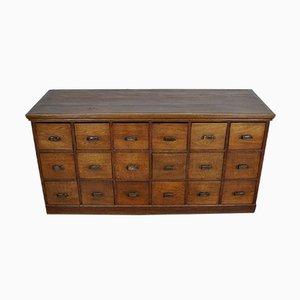 Mueble de farmacia holandés vintage de roble, años 30
