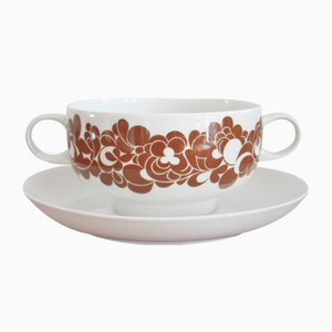 Soup Bowls & Saucer by Wolf Karnagel for Rosenthal, 1970s