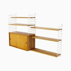 Ash Wall Unit by Kajsa & Nils ''Nisse'' Strinning for String, 1960s