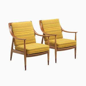FD 144 Armchairs by Peter Hvidt & Orla Mølgaard-Nielsen for France & Søn / France & Daverkosen, 1950s, Set of 2