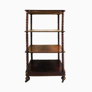 Soporte para estantes antiguo de caoba