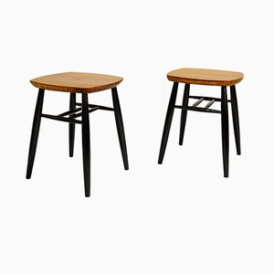 Stools by Ilmari Tapiovaara, 1960s, Set of 2