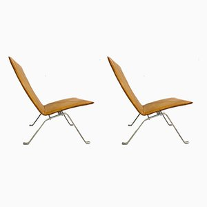 PK22 Armchairs by Poul Kjærholm, 1970s, Set of 2