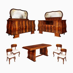 Vintage Art Deco Dining Room Set, 1930s