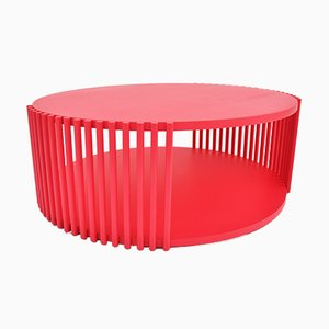 Red Lacquered Palafitte 83 Coffee Table by Debonademeo for Medulum