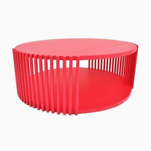 Table Basse Palafitte 83 Laquée Rouge par Debonademeo pour Medulum