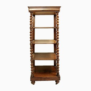 19th Century Mahogany 4-Tier Shelf