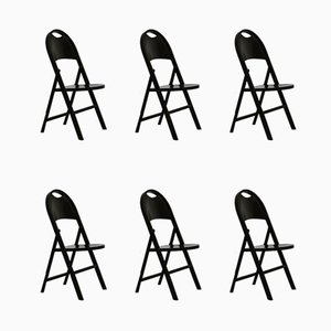 Folding Chairs by Achille & Pier Giacomo Castiglioni for BBB, 1970s, Set of 6