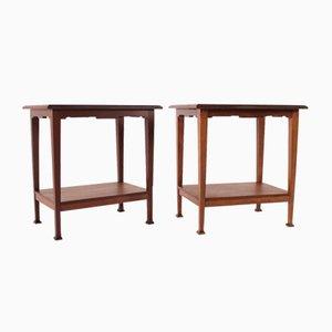 Antique Art Nouveau Coffee Tables, Set of 2