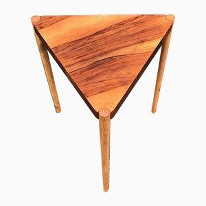 Danish Modern Walnut & Oak Side Table by Edmund Jørgensen, 1960s