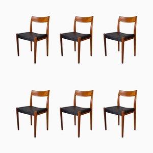 Chaises de Salle à Manger en Teck par Yngve Ekström pour Hugo Troeds, années 60, Set de 6
