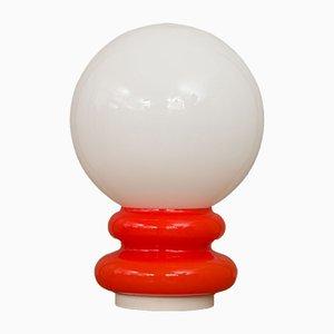 Lámpara de mesa italiana era espacial de cristal de Murano, años 70
