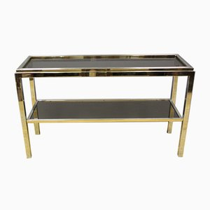 Chromed Metal Console Table by Willy Rizzo, 1970s