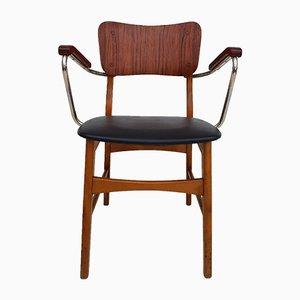 Chaise de Bureau en Teck et Hêtre, Danemark, années 60