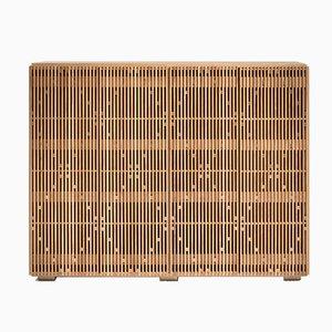 Milione Sideboard aus Eiche & Messing mit Messingplatte von Debonademeo für Medulum