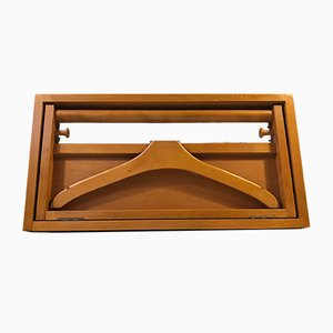 Scandinavian Modern Cherry Wall Rack, 1970s