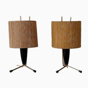 Lampes de Bureau Mid-Century, Set de 2