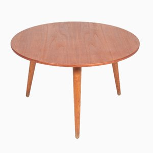 Table Basse en Teck et en Chêne par Hans J. Wegner pour Andreas Tuck, Danemark, années 50