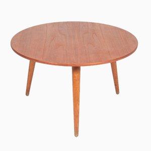 Tavolino da caffè in teak e quercia di Hans J. Wegner per Andreas Tuck, Danimarca, anni '50