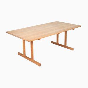 Tavolo da pranzo Mid-Century in legno di quercia massiccio di Børge Mogensen per Fredericia, anni '60