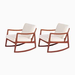 Mid-Century Rocking Chairs by Ole Wanscher for France & Søn / France & Daverkosen, 1950s, Set of 2