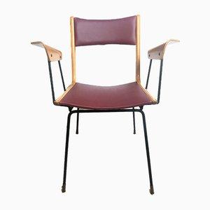 Chaise de Bureau Boomerang Vintage par Carlo de Carli, Italie, années 50