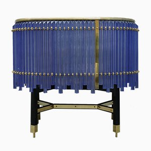 Glass & Brass Sideboard, 1970s