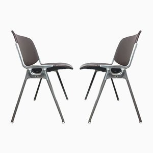 Model 106 Desk Chairs by Giancarlo Piretti for Castelli / Anonima Castelli, 1960s, Set of 2