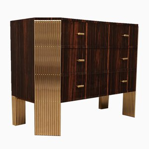 Macassar & Brass Commode, 1970s
