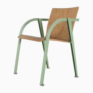 Geschwungener Beistellstuhl aus Stahl, 1970er