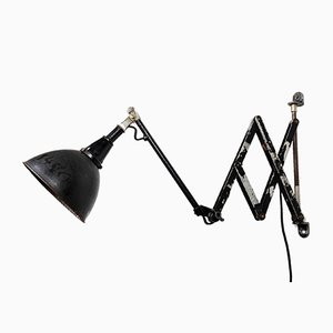 Model 110 Scissor Wall Light by Curt Fischer for Midgard / Industriewerke Auma, 1930s
