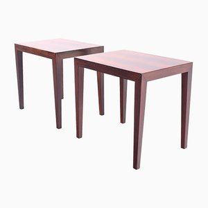 Rosewood Side Tables by Severin Hansen for Haslev Møbelsnedkeri, 1968, Set of 2