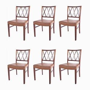 Esszimmerstühle aus Palisander von Ole Wanscher für Slagelse Møbelværk, 1960er, 6er Set