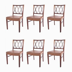 Rosewood Dining Chairs by Ole Wanscher for Slagelse Møbelværk, 1960s, Set of 6