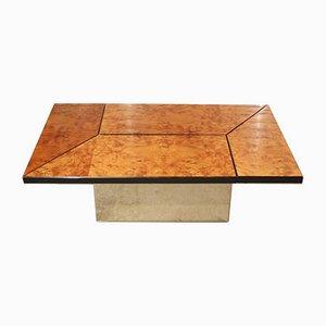 Tavolino da caffè impiallacciato in olmo di Paul Michel, anni '70