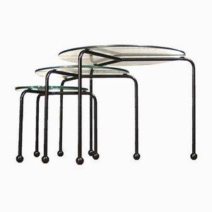 Tavolini ad incastro vintage di Ettore Sottsass