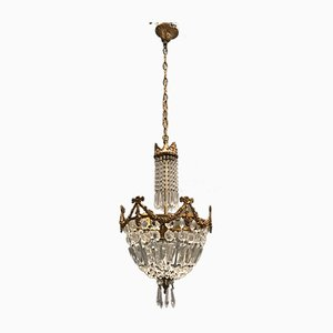 French Crystal Chandelier, 1940s